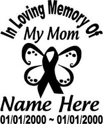 in loving memory of cancer ribbon decal window butterfly