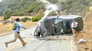 car crashes hard into hillside 4k uhd youtube