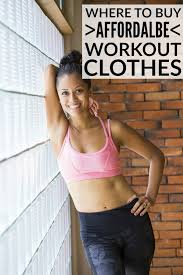 affordable workout clothes where to shop and what to buy