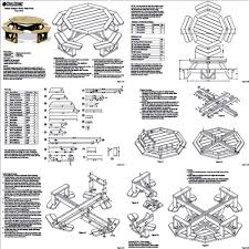 Plans For Wooden Picnic Tables by Traditional Octagon Picnic Table Set Woodworking Out Door