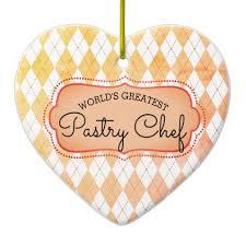 argyle baking pastry chef christmas ornament holidays diy custom