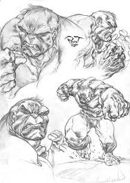hulk sketch by pant on deviantart