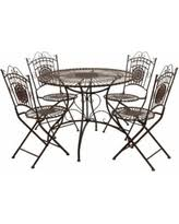 Wrought Iron Patio Dining Set Boom Sales On Wrought Iron Patio Dining Sets
