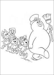 frosty coloring frosty snowman snowman