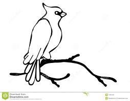 cardinal bird line art royalty free stock images image 7266709