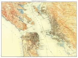 San Francisco Topographic Map by San Francisco 1915 Custom Old Topo Map Usgs The City Marin