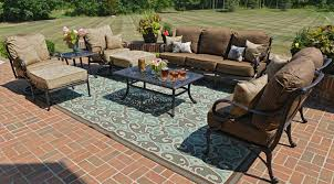 Patio Furniture Franklin Tn by Amia 5 Piece Luxury Cast Aluminum Patio Furniture Deep Hanover