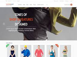 free responsive ecommerce shop bootstrap template supershop