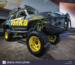 detroit monster truck show detroit mi usa january 14 2016 toyota 4runner tonka truck at