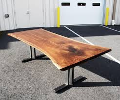 Walnut Live Edge Table by Custom Walnut Bookmatched Live Edge Table Solid Hardwood