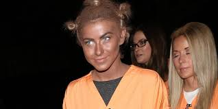 julianne hough dresses as crazy eyes for halloween probably didn