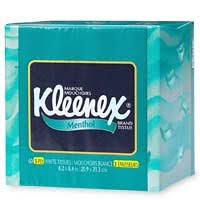 kleenex menthol tissues 3 ply 60 tissues health