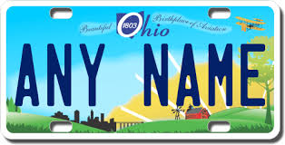 Make Your Own Vanity Plate Personalized Ohio License Plate For Bicycles Kid U0027s Bikes Carts