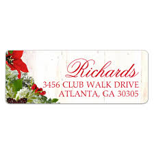 winter floral and berries address labels paperstyle