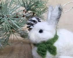 rabbit ornament etsy