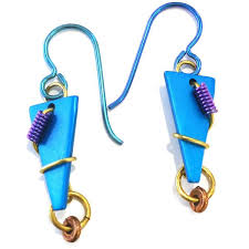 aluminum earrings anodized aluminum earrings cerulean arts