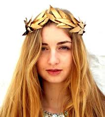 goddess headband gold leaf crown gold headband woodland headpiece goddess