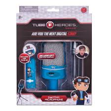 gaming setup maker tube heroes university dantdm tm microphone with stand blue