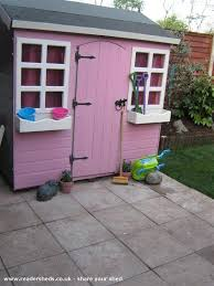 pretty shed pretty pink palace cabin summerhouse from garden owned by mags