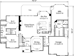 one level floor plans one story with flavor 57045ha architectural designs