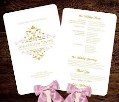 wedding program sles free 26 best projects to try images on wedding program