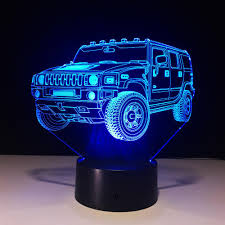 2018 hummer novelty 3d l led light battery mini led