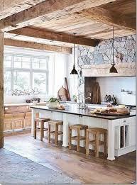 cuisines rustiques bois cuisine verrière déco rustique en et bois