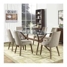 Glass Dining Table For 6 Stefan Retro Scandinavian Glass Dining Table 6 Seater The