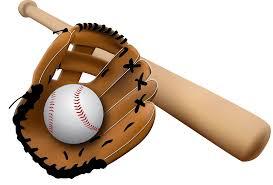 baseball glove and bat transparent png stickpng