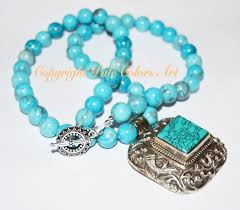 blue turquoise pendant necklace images 21 blue turquoise statement necklace boho turquoise nepal repousse jpg
