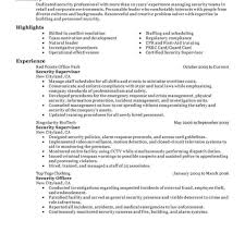armed security job resume exles armed security guard resume unforgettable officers supervisor