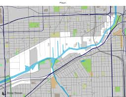 Chicago Midway Map by Map Of Building Projects Properties And Businesses In Pilsen