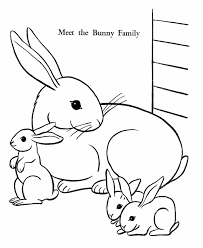easter bunny coloring pages bunny family free printable easter
