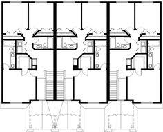 Multi Family House Plans Triplex Triplex House Plans Small Townhouse Plans Triplex House Plans