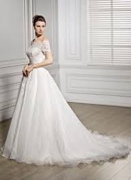 wedding gown gown the shoulder court organza lace wedding dress