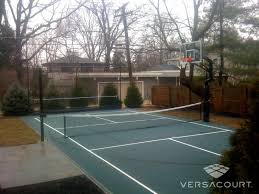 Backyard Tennis Courts by Versacourt Adjustable Net Systems For Tennis Volleyball