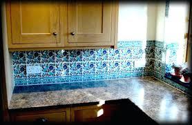 blue tile kitchen backsplash blue tile kitchen backsplash l shape kitchen design using blue