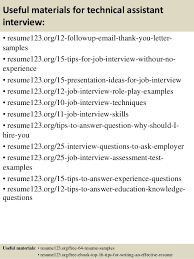 Sample Resume Oil And Gas Industry by Top 8 Technical Assistant Resume Samples