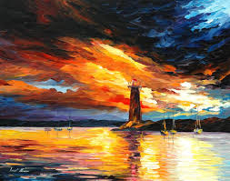 best painting before a storm palette knife oil painting on canvas by leonid