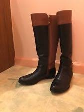 womens boots size 9 wide calf zip block heel leather casual boots for us size 9 ebay