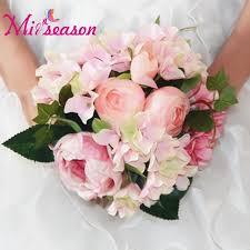 fleur artificielle mariage aliexpress acheter pivoine hortensia bouquet de mariage fleur