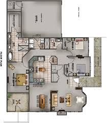 3 Bedroom Floor Plans by The Villas At Branson Hills Thousandhills Com