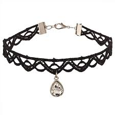 choker necklace black lace images Zephyrr fashion retro gothic style black lace pendant choker jpeg