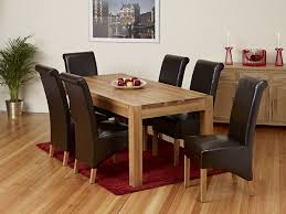 Leather Dining Room Furniture Emejing Dining Room Table With 6 Chairs Contemporary Liltigertoo