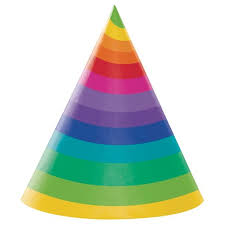 party hats rainbow party hats 8 pk target