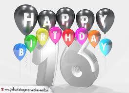 geburtstagsspr che zum 16 geburtstagssprüche zum 16 geburtstag happy birthday mit bunten