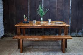 farm tables with benches reclaimed wood farm table and bench reclaimed wood farm table