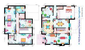 house blue print the simpsons house blueprint 03 jpg 1732 1024 home is where