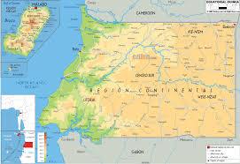 map of equator physical map of equatorial guinea ezilon maps