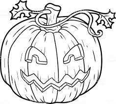coloring book halloween pumpkin stock vector art 492102882 istock